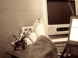 I love going barefoot!
