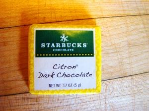 Isn't it cute? And dark chocolate...mmmmm....