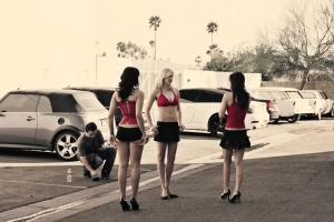 Hot girls, hot cars... huh, what's not to like?