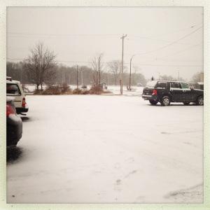 It's a snowy day...